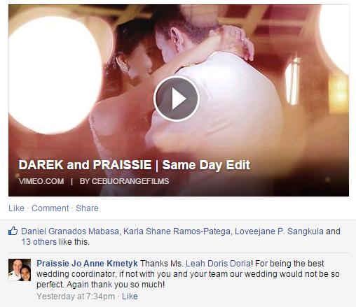 from Jan 12, 2014 Bride Praissie Kmetyk :)
