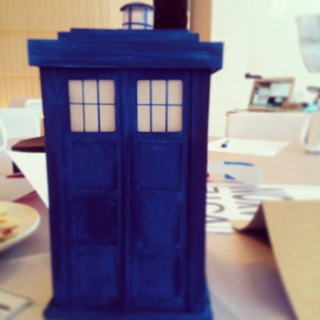 Table Centerpiece: The Tardis. Photo by Armie Garde.